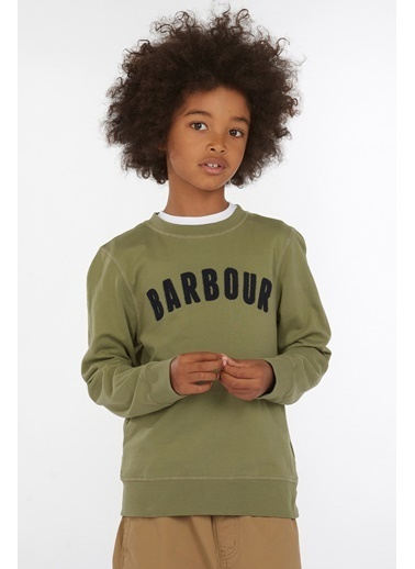 Barbour Erkek Çocuk  Prep Logo Sweatshirt Gn15 Lıght Moss Yeşil